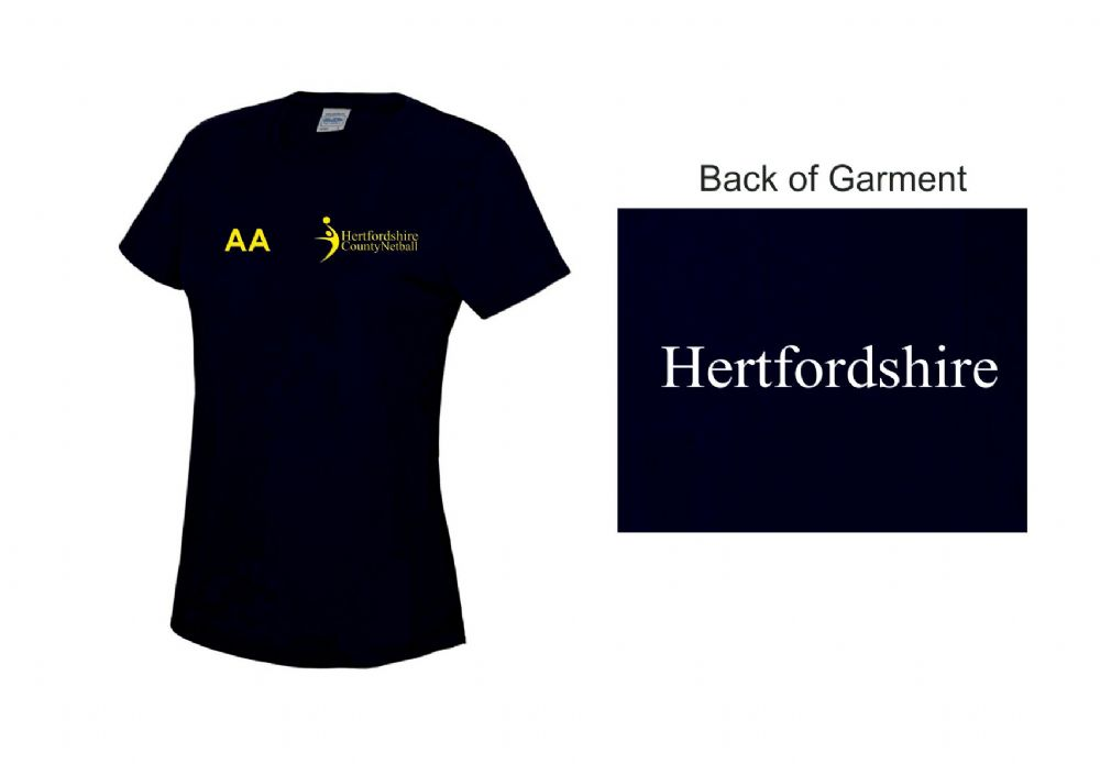Herts County Netball Training T-Shirt Jnr